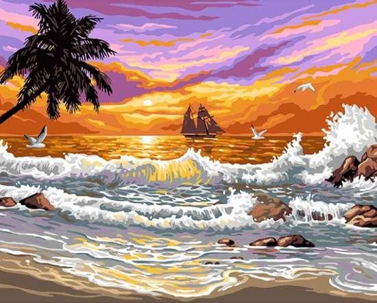 Картина по номерам 40x50 Море бушует